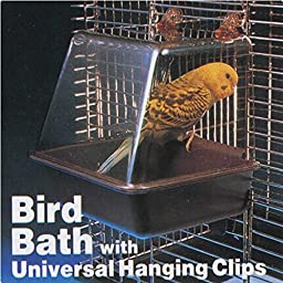 Deluxe Bird Bathtub Bath Box Cage Accessory for Bird by My Toots