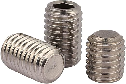 50pcs//lot M5 M5 x 10mm A2 Stainless Steel Flat Point Grub Hex Socket Set Screws Metric DIN913 5mm
