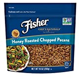 #8: FISHER Chef's Naturals Honey Roasted Chopped Pecans, No Preservatives, Non-GMO, 10 oz