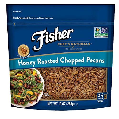 FISHER Chef's Naturals Honey Roasted Chopped Pecans, No Preservatives, Non-GMO, 10 oz ()