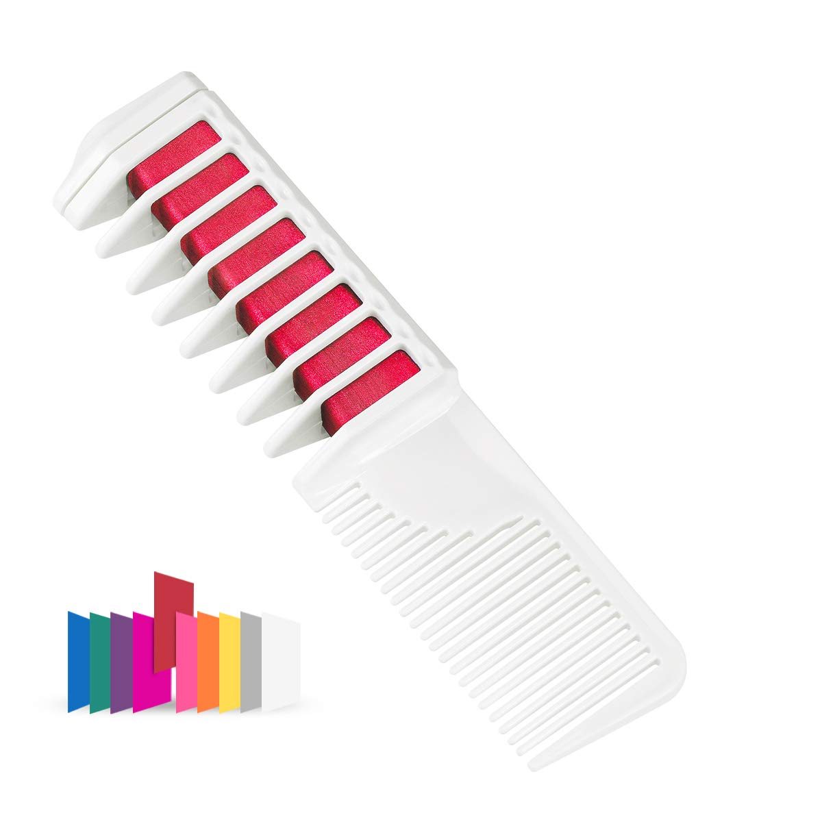 Maydear Temporary Hair Chalk Comb - Non Toxic Hair Color Comb and Safe for Kids (Yellow)