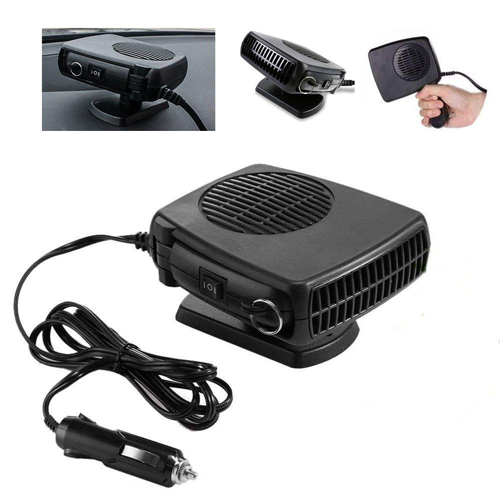 Towinle【Car Heater 12V 150W Portable Auto Fan Car Heater with Folding Handle for Cooling, Heating and Defrosting Defroster Windscreen
