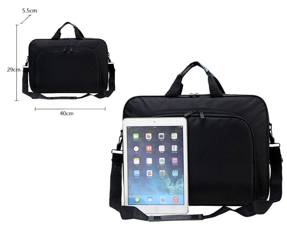 Messenger Bag For 15 Inch Laptop Computer Bag Macbook Shoulder Bag Business Backpack College Bookbag Travel Business Backpack Black Bag by FL Margaret (Image #5)
