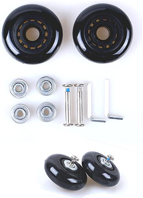 Grow0606 Black Luggage Suitcase//Inline Outdoor Skate Replacement Wheels with ABEC 608zz Bearings