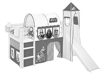 Tunnel Set Etagenbett : Lilokids tunnel star wars schwarz für hochbett spielbett und