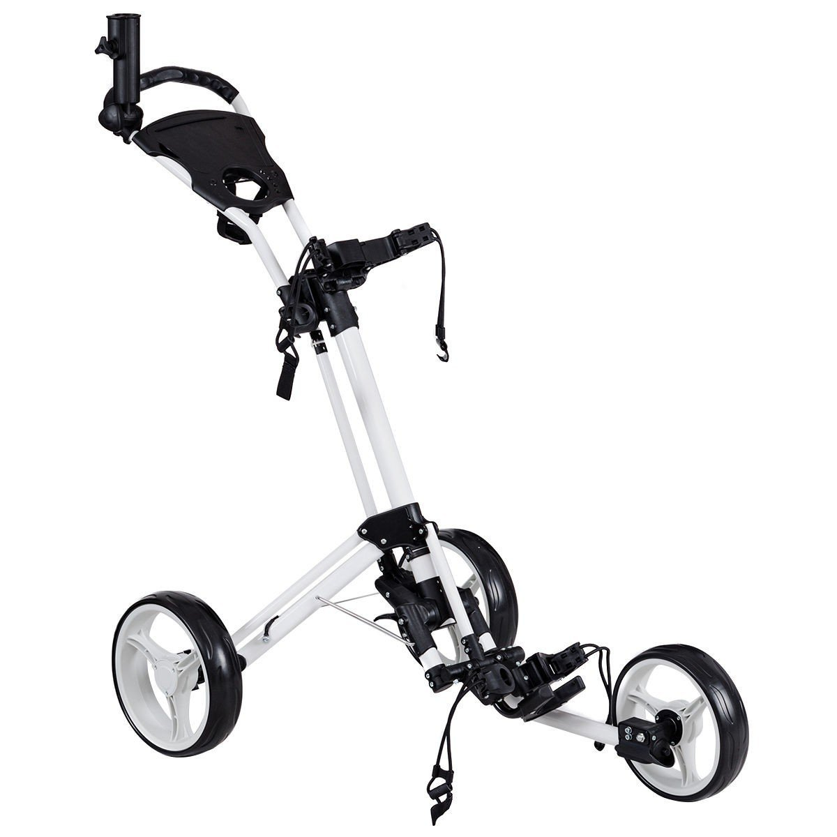 Foldable 3 Wheels Golf Pull Push Cart Trolley by Apontus