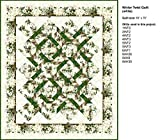Quilt Kit~The Winter Twist White Quilt by Jason Yenter~64'' x 75''~ Pattern/Fabric~Top/Binding