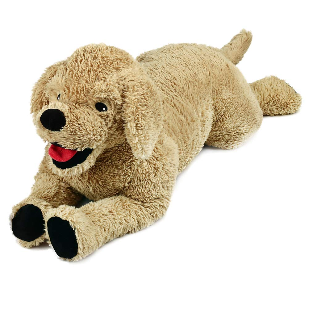 LotFancy 27in Dog Stuffed Animals Plush, Soft Cute Cuddly Golden Retriever Plush Toy, Large Stuffed Dog, Gifts for Kids, Pets, Beige by LotFancy