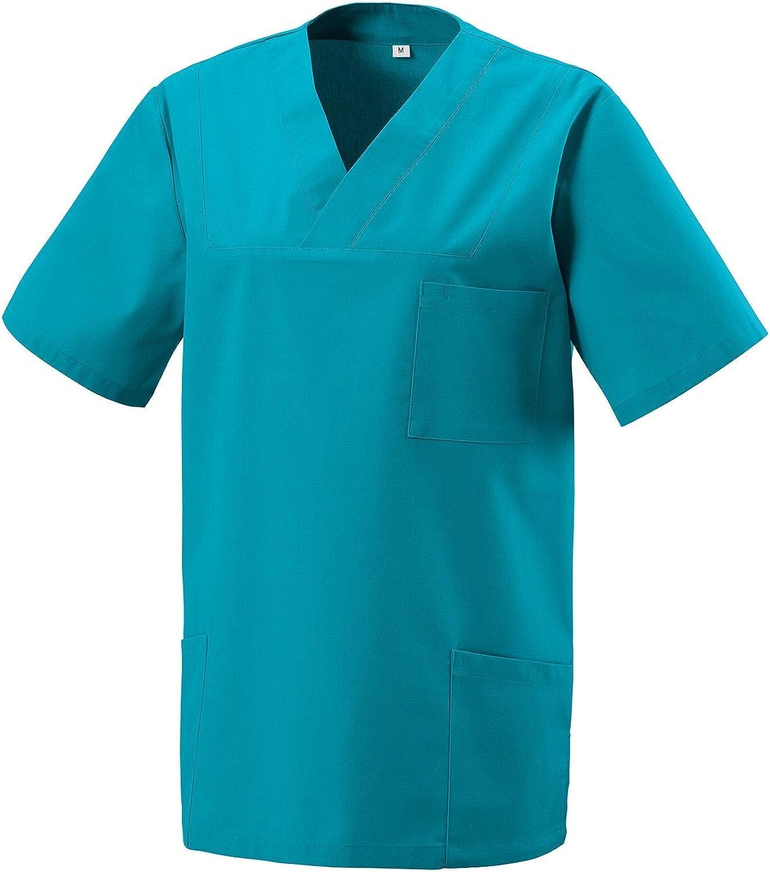 Farben XS-5XL Unbekannt Schlupfkasack Kasack Schlupfjacke Schlupfhemd f/ür Medizin und Pflege OP-Kleidung versch