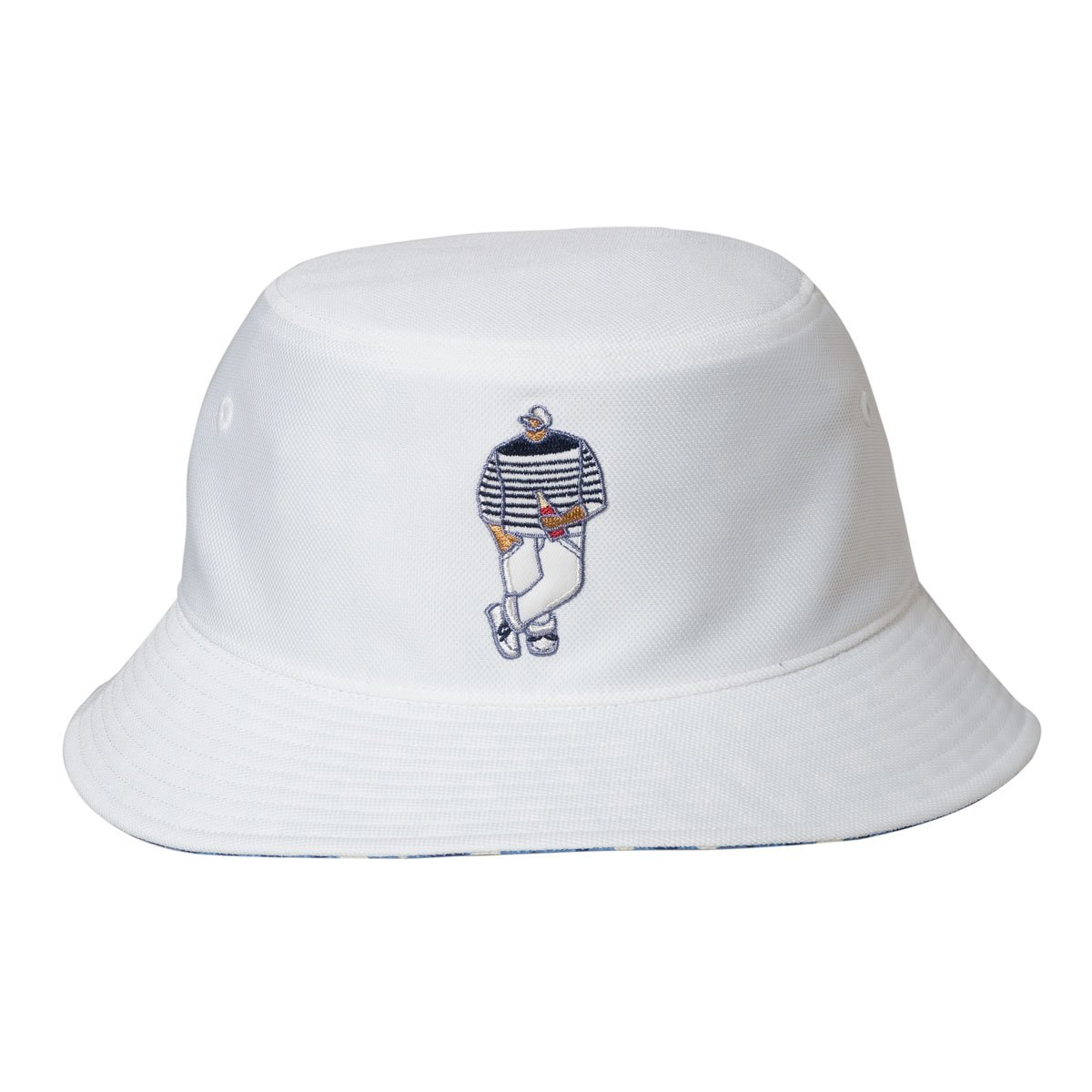 Cova SINACOVA 18177760 Men's Reversible Bucket Hat Off-White One-Size