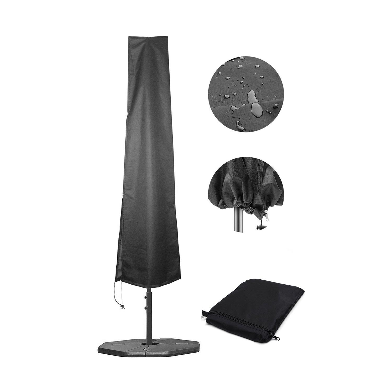 BlumWay ombrello Covers patio ombrelli ombrellone da spiaggia impermeabile coperture con cerniera da 2, 1m a 3, 7m all' aperto grande nero