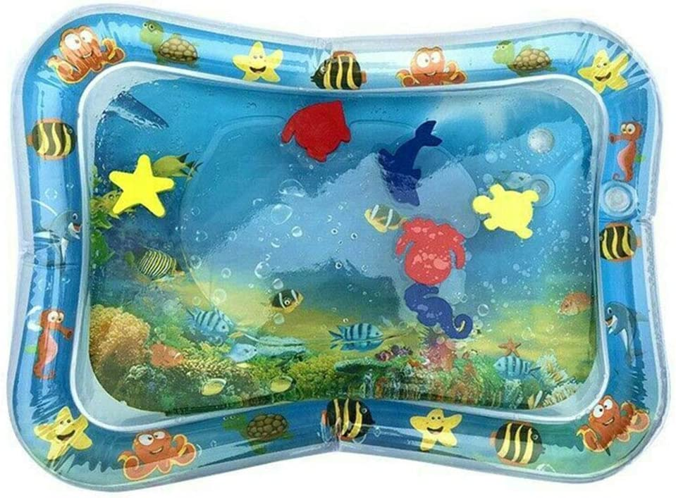 Liamostee Water Filled Baby Inflatable Patted Pad Inflatable Water Cushion Playmat for Kids