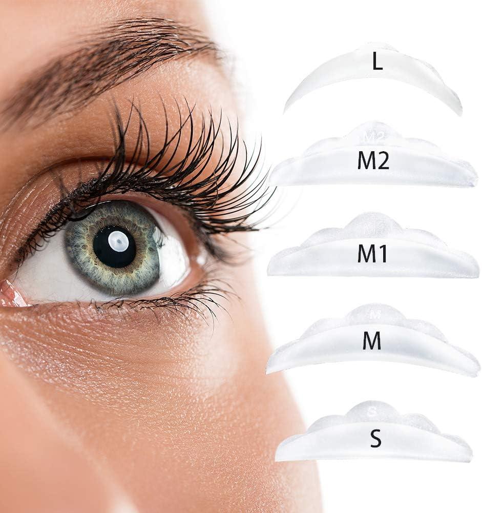 ICONSIGN lifting pestañas almohadillas Lash Lift Curlers Silicone Eye Shield (SM M1 M2 L 10PCS en una caja)