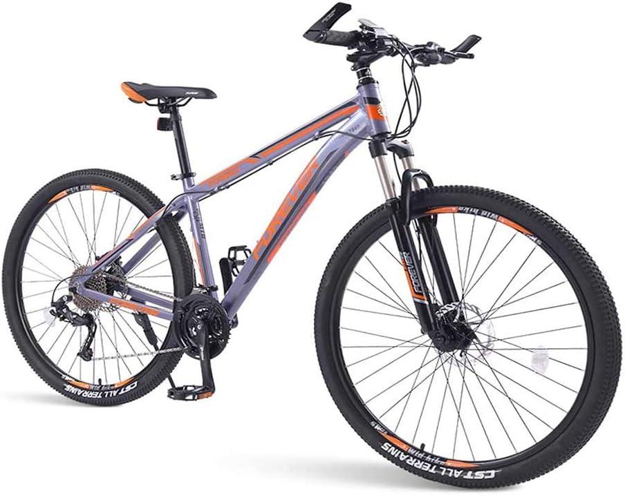 SOHOH Bicicletas De Montaña para Adultos, Bicicleta Montaña Rígida De 33 Velocidades con Freno Disco Doble Cuadro De Aluminio con Suspensión Delantera Bicicleta Carretera para Hombres, Naranja,29in