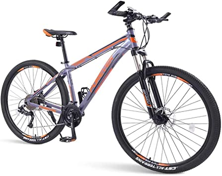 SOHOH Bicicletas De Montaña para Adultos, Bicicleta Montaña Rígida De 33 Velocidades con Freno Disco Doble Cuadro De Aluminio con Suspensión Delantera Bicicleta Carretera para Hombres, Naranja,29in: Amazon.es: Hogar