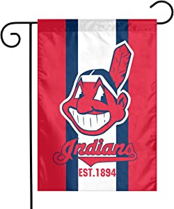 Waynejunior Cleveland Garden Flag Baseball Yard Flag 12 x 18 Inches Oxford Fabric Double-Sided Printing Indoor Banner