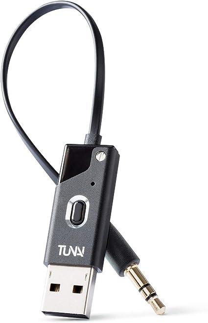 TUNAI Firefly Receptor Bluetooth con Adaptador Bluetooth m/ás peque/ño del Mundo con una conexi/ón AUX de 3,5 mm Paquete Premium, Color Negro