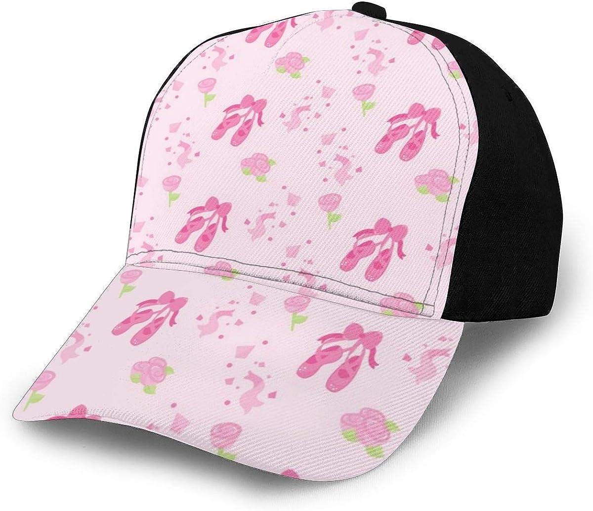 Pink Rose Shoes Pattern Classic Baseball Cap Men Women Dad Hat Twill Adjustable Size