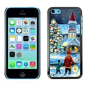 YOYO Slim PC / Aluminium Case Cover Armor Shell Portection //Christmas Holiday Magical Holiday Church 1172 //Apple Iphone 5C