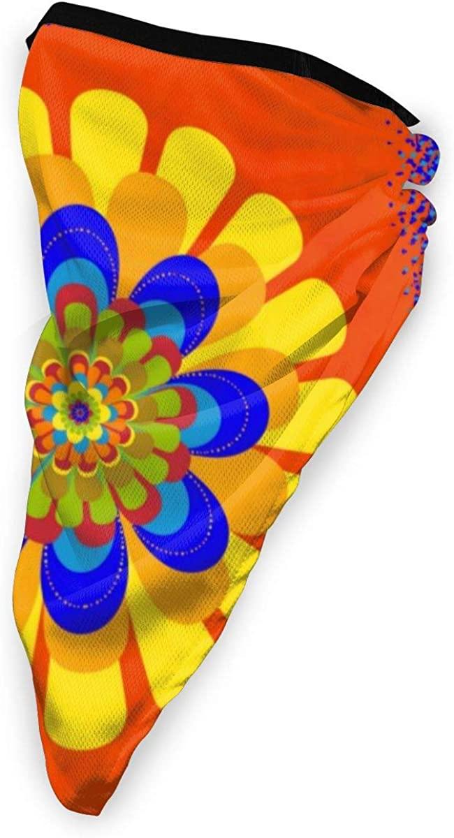 Wind-Resistant Face Mask/& Neck Gaiter,Balaclava Ski Masks,Breathable Tactical Hood,Windproof Face Warmer for Running,Motorcycling,Hiking-Orange Bloom Flower