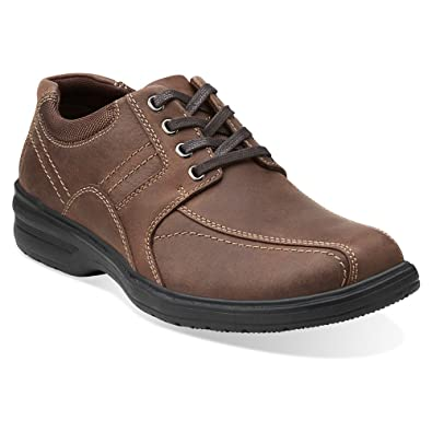 Clarks Men's Sherwin Limit Oxford Chocolate Leather 9.5 D(M