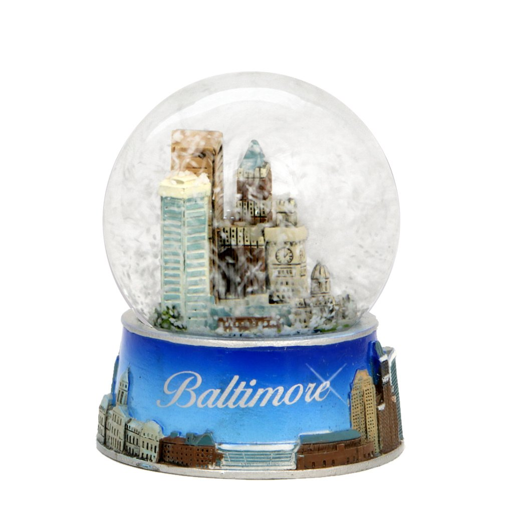 Baltimore Snow Globe from Maryland. Souvenir Snow Globe of Baltimore Skyline. 3.5'' (65mm) snow globes by Unknown (Image #2)
