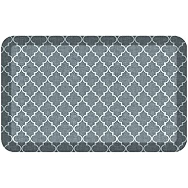 NewLife by GelPro Designer Comfort Mat, 20 by 32-Inch, Lattice Mineral Grey