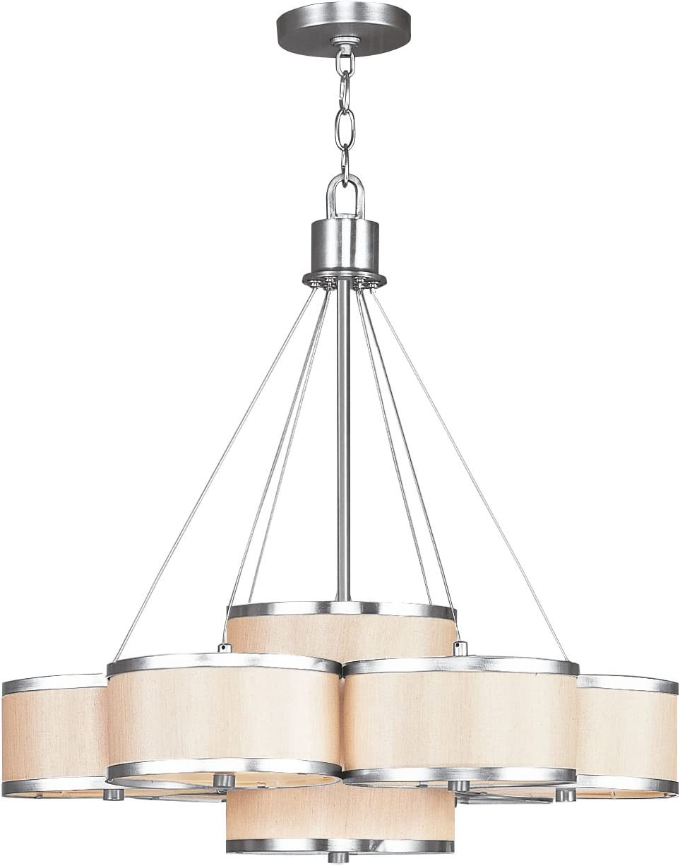 Livex Lighting 6346-91 Park Ridge Chandelier, Brushed Nickel, 26 x 26