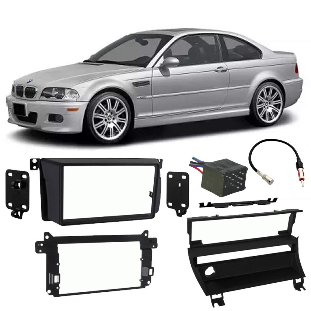 Fits BMW M3 2001-2006 Double DIN Stereo Harness Radio Install Dash Kit Package New