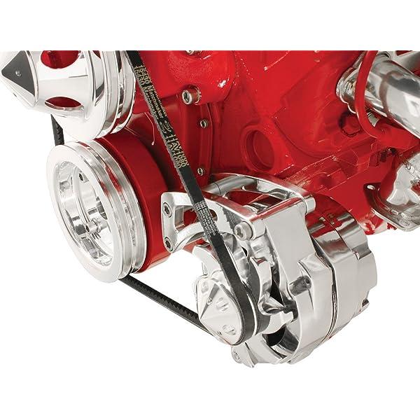 Aluminum Alloy Alternator Bracket Kit Long Water Pump Polished For Chevy SBC 350