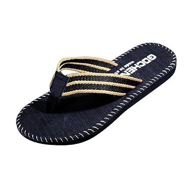Misaky Men's Basic Summer Camouflage Sandals Slipper Flip-flops indoor & outdoor