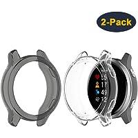 JOYAUS Protective Bumper Case for Garmin Venu, (2 Pack) Soft TPU Protective Bumper Shell Cover for Garmin Venu ( Black…