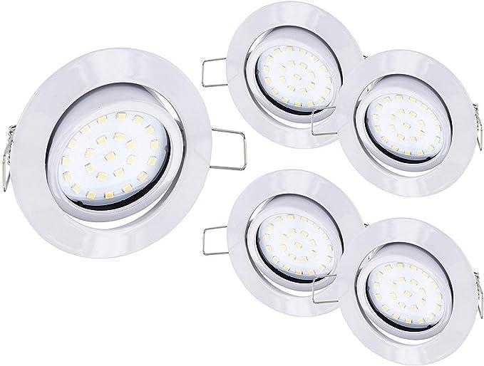 5er Pack - ultra plano de focos LED empotrables de acero ...
