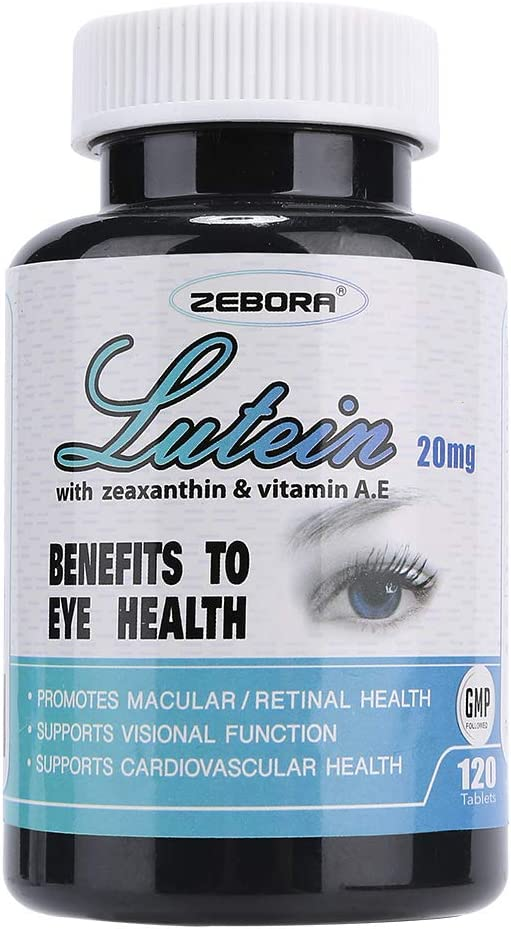 Eye Vitamins 20mg Lutein & 4mg Zeaxanthin and VIT A&E for Vision and Eyes Health Supplements, Promotes Retinal and Macular Health, Based on AREDS 2