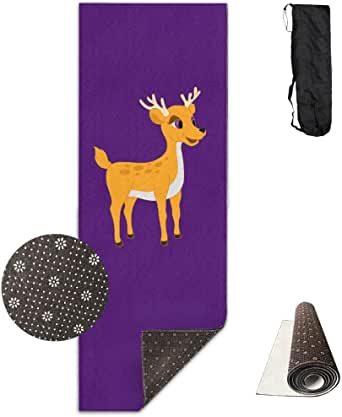 Amazon.com: Workout Mat for Yoga, Deer Baby Printed Design