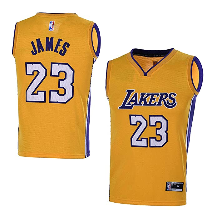 info for ce800 b7504 OuterStuff Youth Los Angeles Lakers #23 LeBron James Kids Gold Jersey