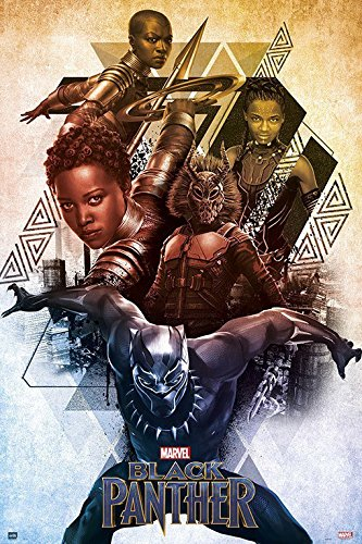 Black Panther - Marvel Movie Poster / Print Character Collage By Stop Online