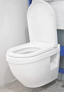 Floro murale compacte en forme de D Abattant WC suspendu à projection courte WC WH Poêle Soft Close Siège de libération rapide
