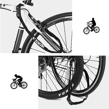 candado Bicicleta Cadena antirrobo Bicicleta Candados de Bicicleta combinaci/ón Cascos cerraduras para Bicicleta Combinaci/ón de candado de Bicicleta