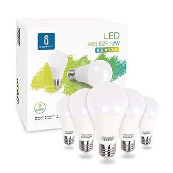 Aigostar - Bombilla LED E27 12W equivalente a 100 W, 6400K, 1020 ...