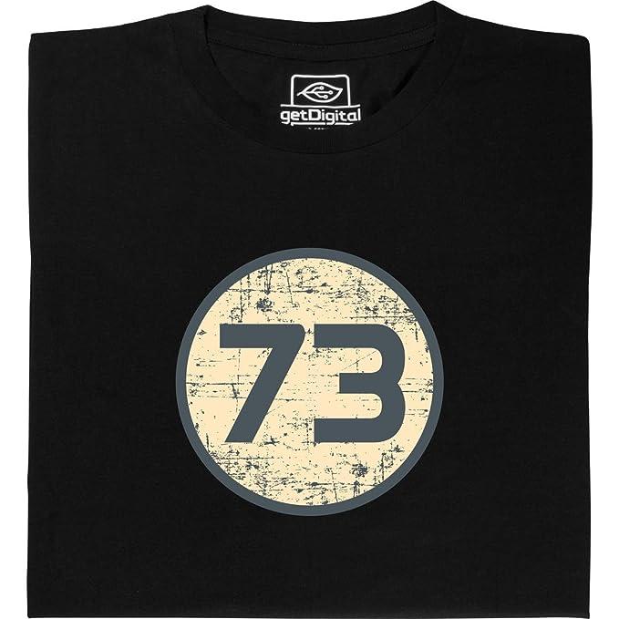 getDigital Camiseta 73 de Sheldon - Camisa Hecha de algodón orgánico 100%, Talla XL: Amazon.es: Ropa y accesorios
