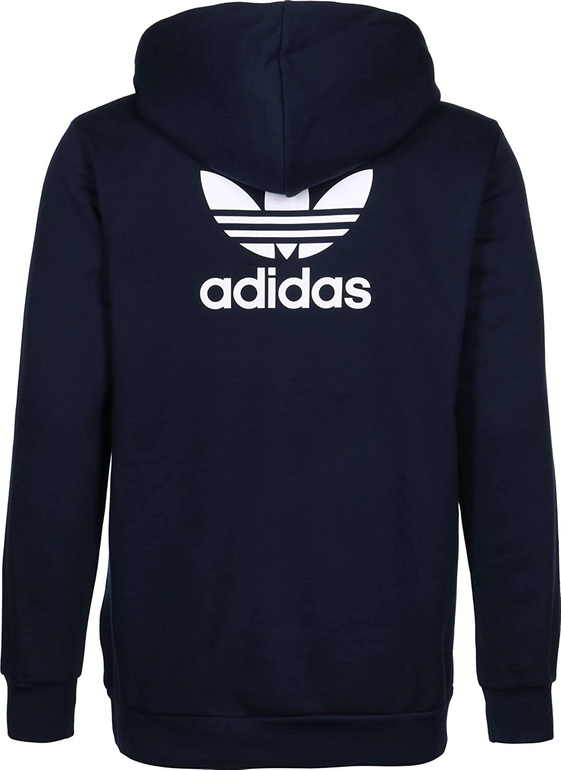 adidas Trefoil Fleece sweat à capuche navy: