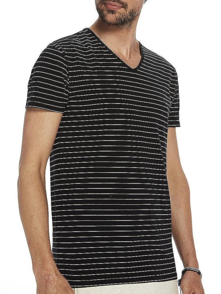 Scotch & Soda Basic V-Sneck T-Shirt Camiseta para Hombre