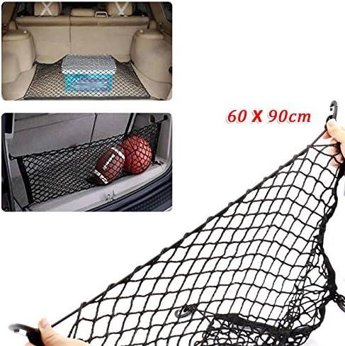 60X90 cm Auto SUV Elastic Nylon Rear Cargo Trunk Storage Organizer Flexible Net