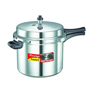 Prestige P+10L Popular Plus Induction Base Pressure Cooker 10 Litres Silver