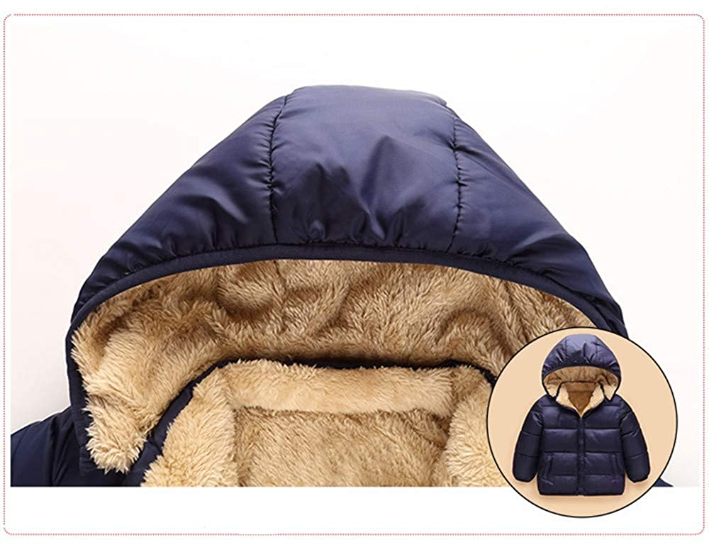 Wenini Kids Baby Girl Boy Winter Hooded Coat Cloak Jacket Thick Outerwear Clothes