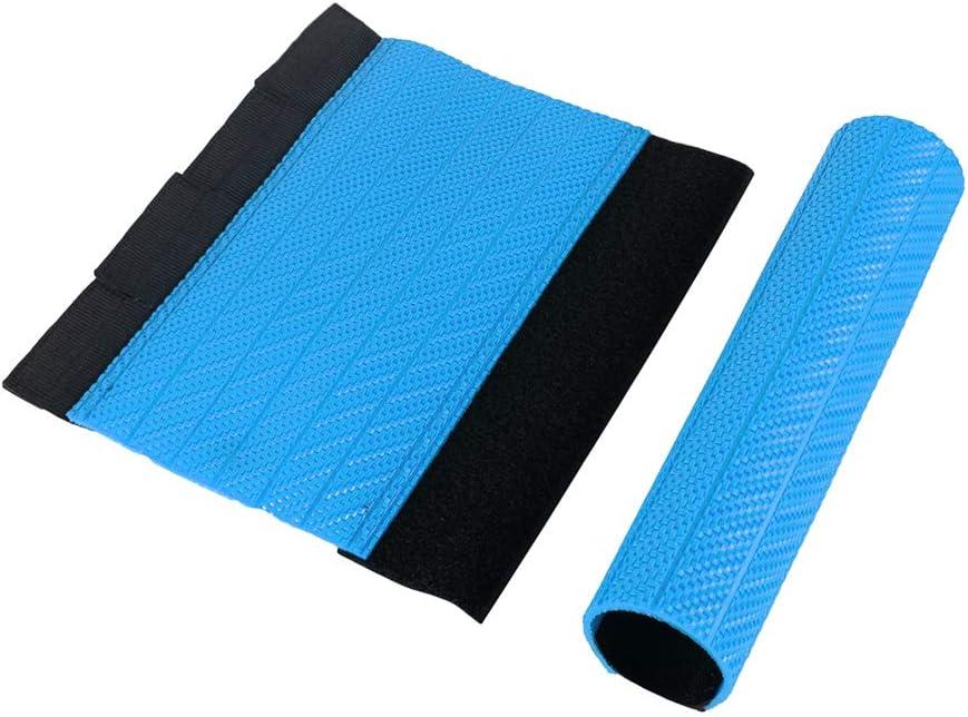 Protezioni Forcella Superiori Universali per Moto Involucri di Gomma Ghette Copertura Protettiva per Forcelle con Lunghezza di 235mm Arancia