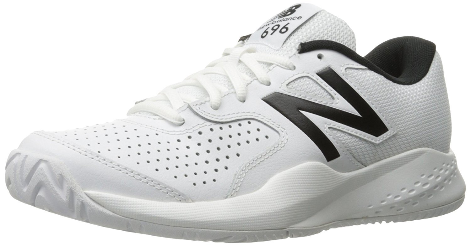 New Balance Men's MC696v3 Hard Court Tennis Shoe, White, 9 2E US