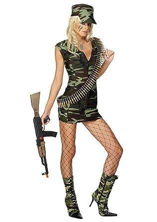 AniKigu Mujer Disfraz de Camuflaje Militar Ejército Soldado ...