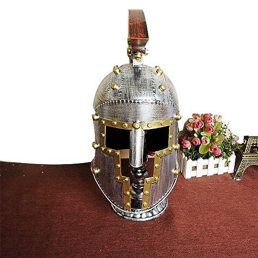 Casco de caballero medieval de hierro para hombres, casco de ...